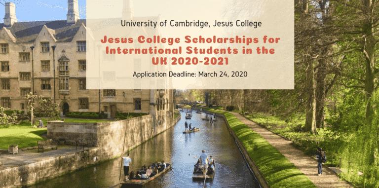 منحة كلية يسوع جامعة كامبريدج