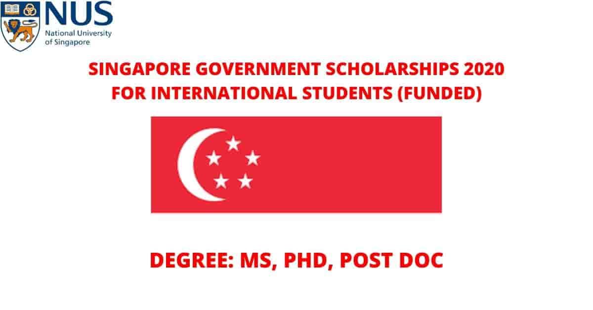 منحة جامعة سنغافورة الوطنية 2020 لدراسة الماجستير والدكتوراه (ممولة بالكامل)