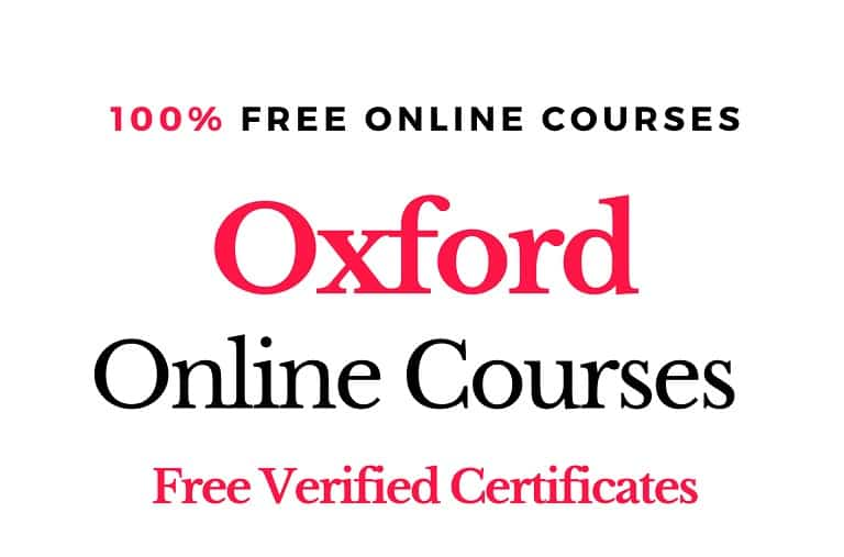 كورسات جامعة أكسفورد المجانية على الإنترنت (شهادات مجانية)