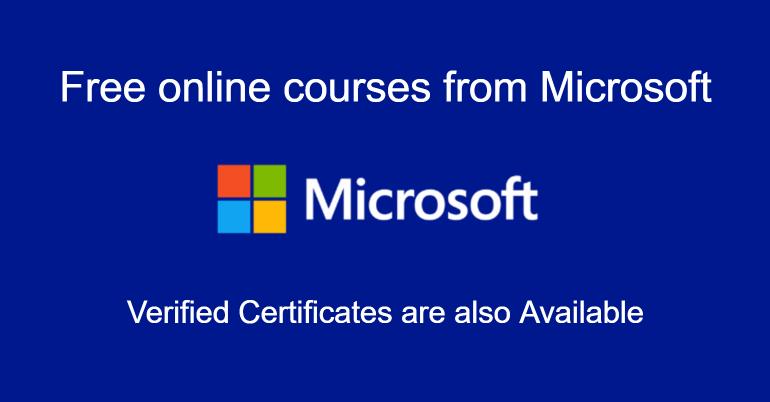 دورات مايكروسوفت Microsoft المجانية على الانترنت 2020