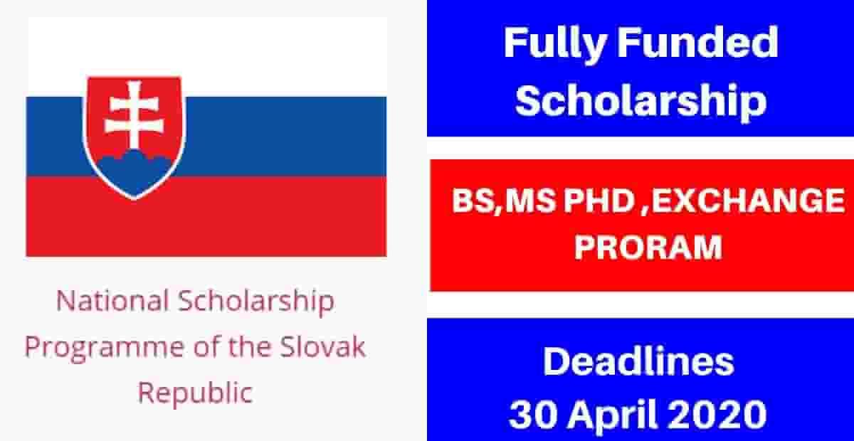منحة حكومة سلوفاكيا لدراسة البكالوريوس والماجستير والدكتوراه 2021 (ممولة بالكامل)