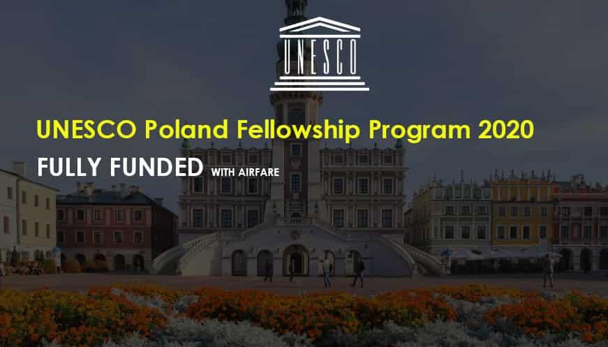 برنامج زمالة اليونسكو في بولندا 2020 (ممول بالكامل)