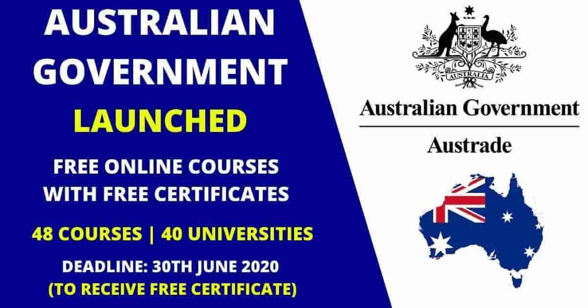 كورسات الحكومة الأسترالية المجانية على الإنترنت لعام 2020 (مع شهادات مجانية)