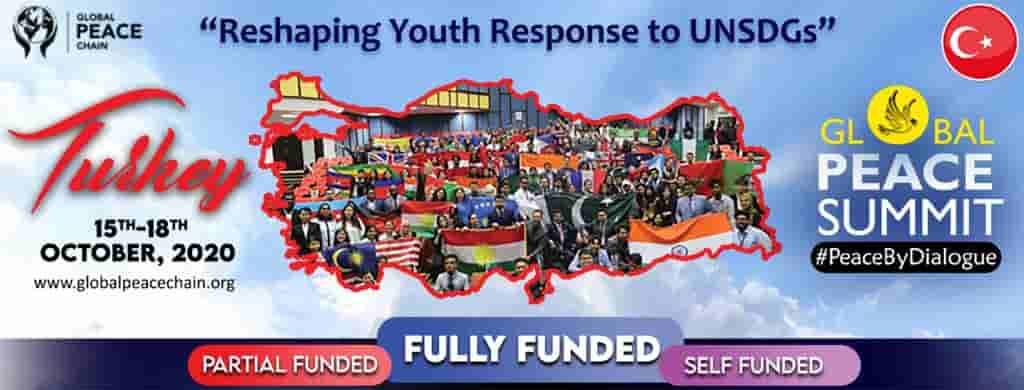 شارك الأن في قمة السلام العالمية في تركيا 2020 (مؤتمر ممول بالكامل)