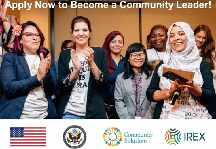 فرصة التقديم في برنامج Community Solutions الممول بالكامل في أمريكا 2021