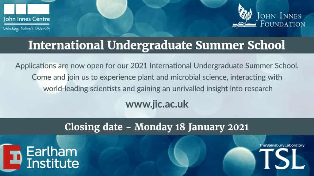 قدم الأن في المدرسة الصيفية في علوم النبات والعلوم الدقيقة بالمملكة المتحدة لعام 2021