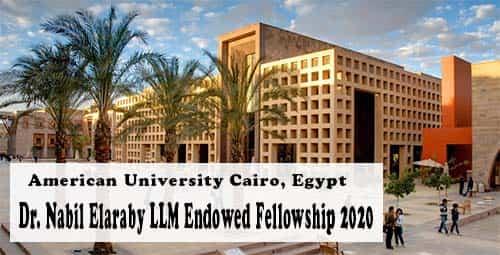 منحة زمالة دكتور نبيل العربي لدراسة الماجستير في الجامعة الأمريكية بالقاهرة 2021
