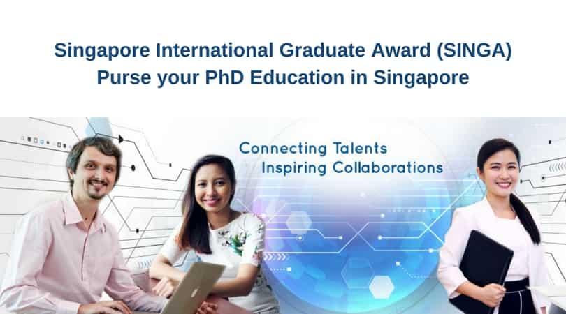 منحة حكومة سنغافورة SINGA الممولة بالكامل للحصول على الدكتوراه 2021