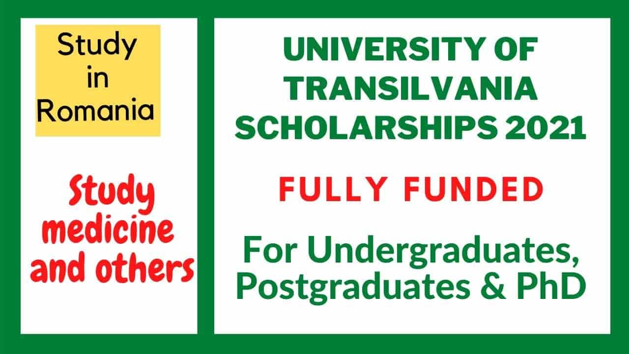 منحة جامعة ترانسلفانيا لدراسة البكالوريوس والماجسيتر والدكتوراه في رومانيا 2021