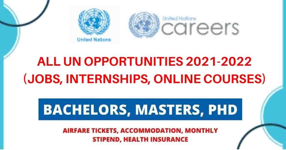 جميع فرص الأمم المتحدة | وظائف ، تدريب داخلي ، دورات عبر الإنترنت